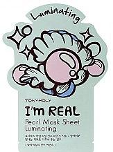 Düfte, Parfümerie und Kosmetik Aufhellende Tuchmaske für das Gesicht mit Perlenextrakt - Tony Moly I'm Real Peral Luminating Sheet Mask