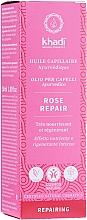 Düfte, Parfümerie und Kosmetik Intensiv regenerierendes und nährendes Haaröl für geschädigtes und trockenes Haar - Khadi Ayuverdic Rose Repair Hair Oil