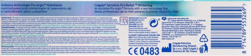 Aufhellende Zahnpasta Sensitive Pro-Relief - Colgate Snsitive Pro-Relief Whitening Toothpaste — Bild N2