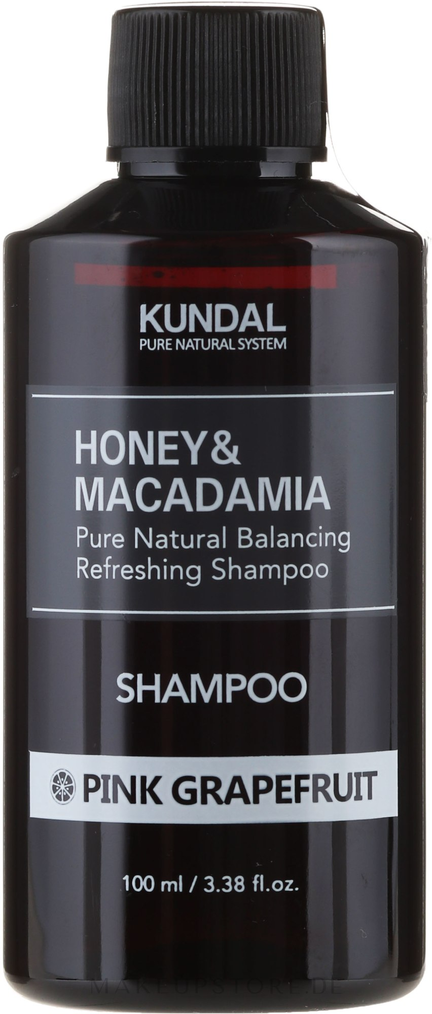 Erfrischendes Shampoo mit rosa Grapefruit - Kundal Honey & Macadamia Pink Grapefruit Shampoo — Bild 100 ml