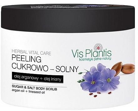Zucker-Salz Körperpeeling mit Leinsamen- und Arganöl - Vis Plantis Herbal Vital Care Sugar & Salt Body Scrub — Bild N1