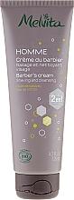 Düfte, Parfümerie und Kosmetik 2in1 Reinigende Rasiercreme - Melvita Homme Shaving & Cleansing Cream 2in1