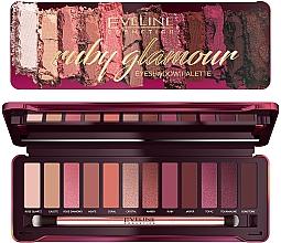 Düfte, Parfümerie und Kosmetik Lidschatten-Palette - Eveline Cosmetics Ruby Glamour Eyeshadow Palette