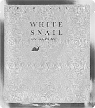 Düfte, Parfümerie und Kosmetik Gesichtsmaske - Holika Holika Prime Youth White Snail Tone-up Mask Sheet