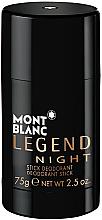 Düfte, Parfümerie und Kosmetik Montblanc Legend Night Stick - Parfümierter Deostick