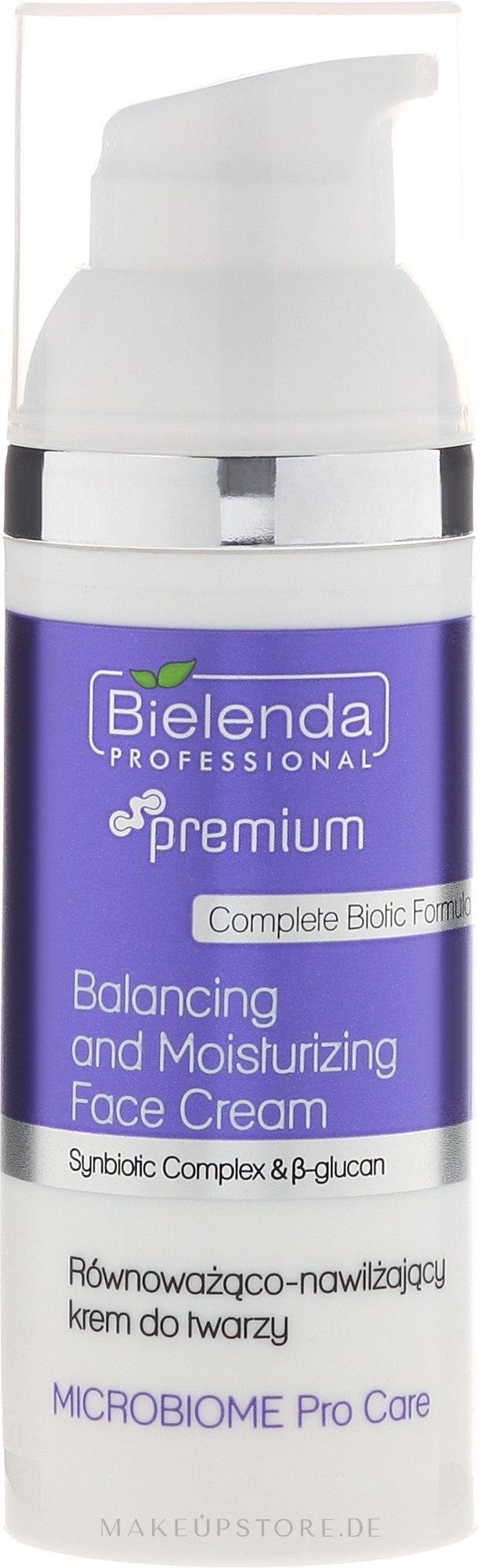 Ausgleichende und feuchtigkeitsspendende Gesichtscreme - Bielenda Professional Microbiome Pro Care Balancing And Moisturizing Face Cream — Bild 50 ml