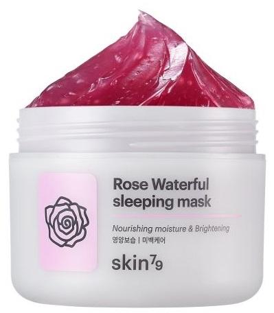 Feuchtigkeitsspendende und aufhellende Gesichtsmaske mit Rosenwasser - Skin79 Moisturizing Rose Waterfull Mask  — Bild N1