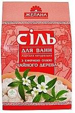 Düfte, Parfümerie und Kosmetik Natürliches Meeres-Badesalz mit ätherischem Teebaumöl - Aqua Cosmetics