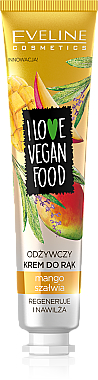 Regenerierende Handcreme mit Mango und Salbei - Eveline Cosmetics I Love Vegan Food Mango & Salvia Hand Cream — Bild N1