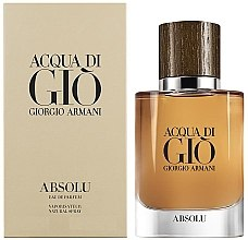 Düfte, Parfümerie und Kosmetik Giorgio Armani Acqua di Gio Absolu - Eau de Parfum