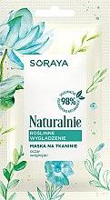 Düfte, Parfümerie und Kosmetik Glättende Tuchmaske für Gesicht mit Hamamelis-Extrakt - Soraya Naturalnie Mask