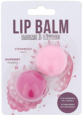 Set - Cosmetic 2K Duo Lip Balm Raspberry, Strawberry (balm/2.8g + balm/2.8g) — Bild N1