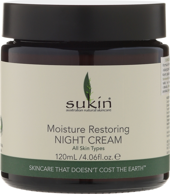 Regenerierende Nachtcreme für das Gesicht - Sukin Moisture Restoring Night Cream — Bild N1