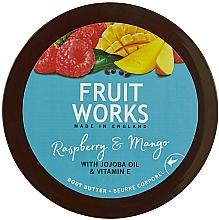 Düfte, Parfümerie und Kosmetik Körperbutter mit Himbeere und Mango - Grace Cole Fruit Works Body Butter Raspberry & Mango