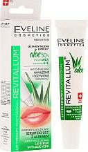 Düfte, Parfümerie und Kosmetik Tief feuchtigkeitsspendendes Lippenserum mit Aloe Vera - Eveline Cosmetics Lip Therapy Professional Revitallum Aloe Moisturising Lip Serum