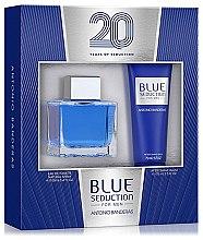 Düfte, Parfümerie und Kosmetik Blue Seduction Antonio Banderas - Kosmetikset (Eau de Toilette/100ml + After Shave Balsam/75ml)
