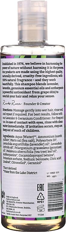 Nährendes Shampoo mit Lavendel und Geranie für normales und trockenes Haar - Faith In Nature Lavender & Geranium Shampoo — Bild N2