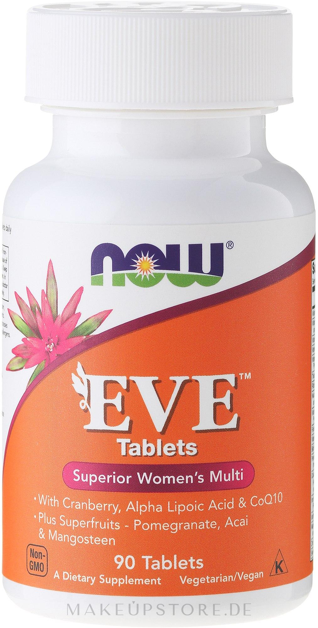 Multivitamine für die Frau mit Preiselbeere, Alpha-Liponsäure und Coenzym Q10 - Now Foods Eve Womans Multi — Bild 90 St..