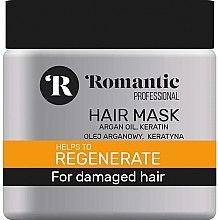 Düfte, Parfümerie und Kosmetik Regenerierende Haarmaske für geschädigtes Haar mit Arganöl und Keratin - Romantic Professional Helps to Regenerate Hair Mask