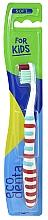Düfte, Parfümerie und Kosmetik Kinderzahnbürste weich weiß-rot-hellblau - Ecodenta Soft Toothbrush For Children