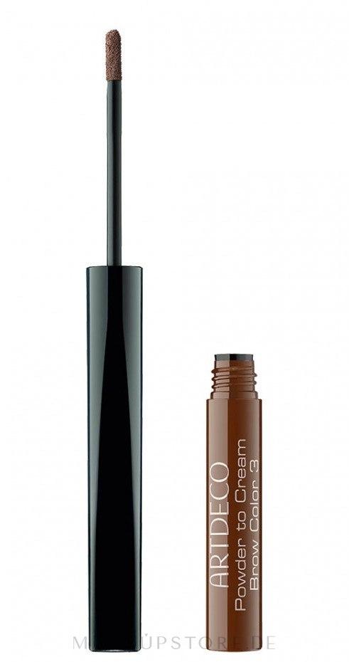 Augenbrauenpuder - Artdeco Powder to Cream Brow Color — Bild 3 - Brunette