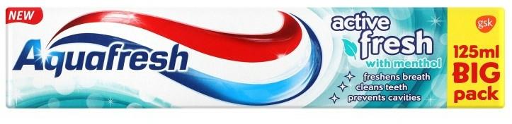Erfrischende Zahnpasta mit Menthol - Aquafresh Activ Fresh with Mentol — Bild N1