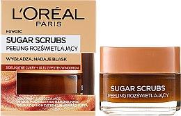 Düfte, Parfümerie und Kosmetik Zucker- Gesichtspeeling - L'Oreal Paris Sugar Scrubs
