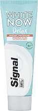 Düfte, Parfümerie und Kosmetik Aufhellende Zahnpasta mit Kokosnussextrakt - Signal White Now Detox Toothpaste