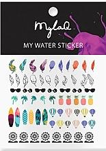 Düfte, Parfümerie und Kosmetik Dekorative Nagelsticker Urlaub - MylaQ My Holiday Sticker