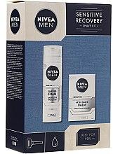 Düfte, Parfümerie und Kosmetik Gesichtspflegeset - Nivea Men Sensitive Recovery Shave Kit (Rasierschaum 200ml+After Shave Balsam 100ml)