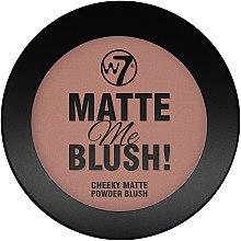 Düfte, Parfümerie und Kosmetik Mattierendes Puder - W7 Matte Me Blush Powder