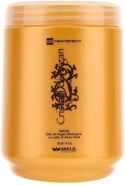 Tief pflegende Haarmaske mit Arganöl und Aloe Vera - Brelil Bio Traitement Cristalli d'Argan Mask Deep Nutrition — Bild N1