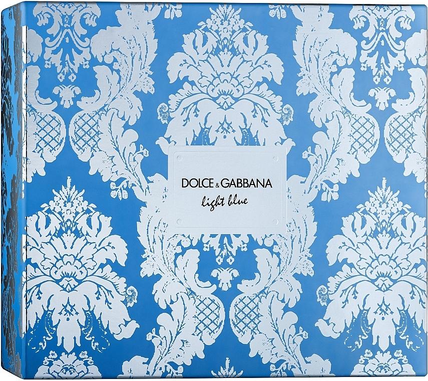 Dolce & Gabbana Light Blue - Duftset (Eau de Toilette 100ml + Körpercreme 50ml + Eau de Toilette 10ml)
