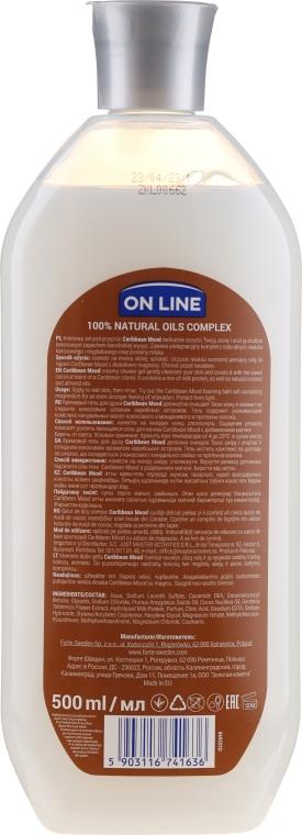 Duschcreme Caribbean Mood mit Mandel, Kokosnussöl und Milchprotein - On Line Caribbean Mood Shower Cream — Bild N2
