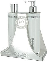 Düfte, Parfümerie und Kosmetik Körperpflegeset - Vivian Gray White Crystals Set (Duschgel 250ml + Körperlotion 250ml)