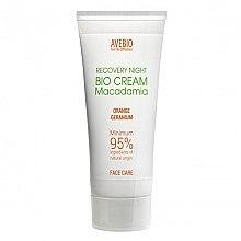 Düfte, Parfümerie und Kosmetik Regenerierende Bio Nachtcreme mit Macadamia - Avebio Recovery Night Bio Cream Macadania