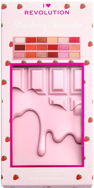 Lidschattenpalette - I Heart Revolution Chocolate Eyeshadow Palette Strawberry Cheesecake — Bild N2
