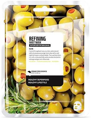 Verfeinende Tuchmaske mit Olivenöl - Superfood For Skin Refining Sheet Mask — Bild N1