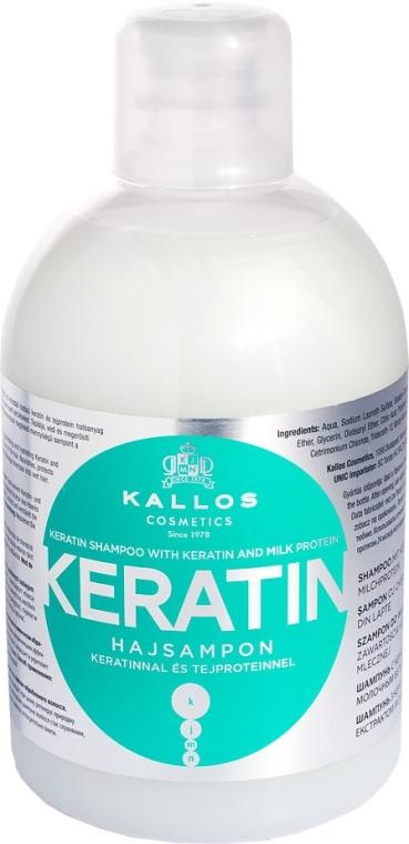 Shampoo mit Keratin und Milchprotein - Kallos Cosmetics Keratin Shampoo