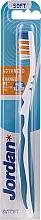 Düfte, Parfümerie und Kosmetik Zahnbürste weich Advanced weiß-blau - Jordan Advanced Soft Toothbrush