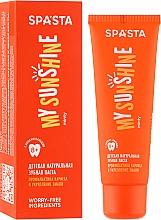 Düfte, Parfümerie und Kosmetik Natürliche Kinderzahnpasta gegen Karies und zur Zahnschmelzverstärkung - Spasta My Sunshine