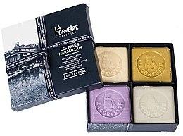 Düfte, Parfümerie und Kosmetik Seifen-Geschenkset - La Corvette Les Paries Marseillais (Seife 4x125g)