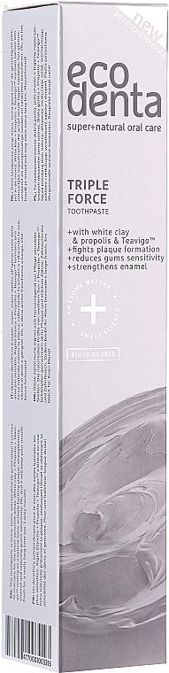 Zahnpasta mit weißem Ton, Propolis und Teavigo - Ecodenta Extra Toothpaste — Bild N4
