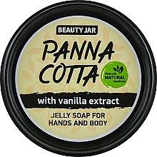 Düfte, Parfümerie und Kosmetik Gelee Seife Panna Cotta mit Vanilleextrakt - Beauty Jar Jelly Soap For Hands And Body