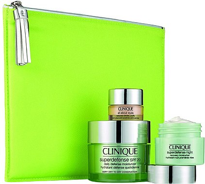 Set - Clinique Superdefense (cr/50ml + n/cr/15ml + eye/cr/5ml + bag) — Bild N1