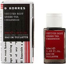 Düfte, Parfümerie und Kosmetik Korres Vetiver Root Green Tea Cedarwood - Eau de Toilette
