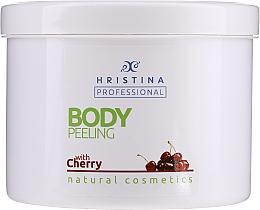 Düfte, Parfümerie und Kosmetik Körperpeeling mit Kirschextrakt - Hristina Professional Cherry Body Peeling