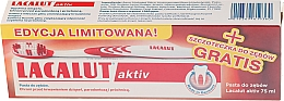 Düfte, Parfümerie und Kosmetik Zahnpasta gegen Parodontose + Zahnbürste - Lacalut Activ Paradontosis