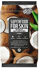 Düfte, Parfümerie und Kosmetik Feuchtigkeitsspendende Gesichtsreinigungstücher mit Kokos - Superfood For Skin Moisturizing Facial Cleansing Wipes Coconut