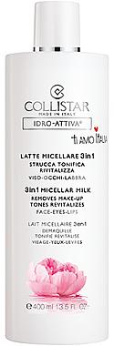 3in1 Mizellenmilch für Gesicht, Augen und Lippen - Collistar Idro Attiva Latte Micellare 3 in 1 — Bild N1